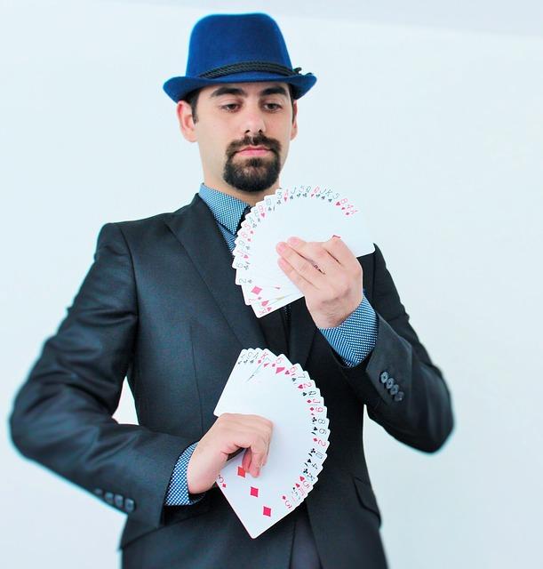 kouzelník s kartami