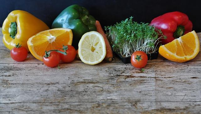 zelenina a citrusy
