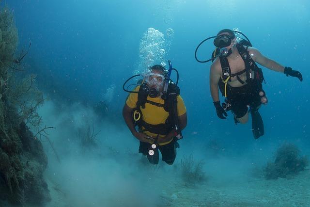 kamarádi pod vodou