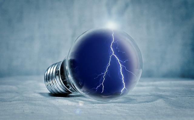 blesk v žárovce